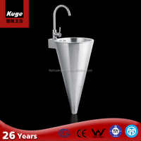 Creative design stainless steel cone-shaped sink for bathroom