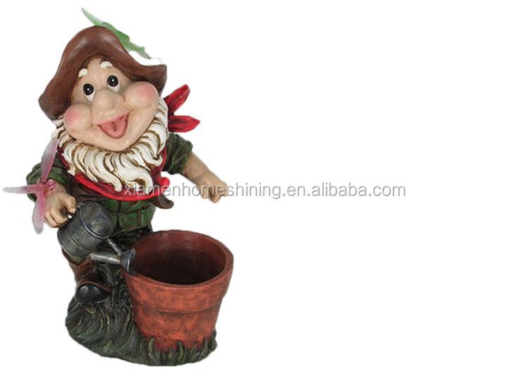 hartsi led-valaistus puutarha gnome kukkaruukku
