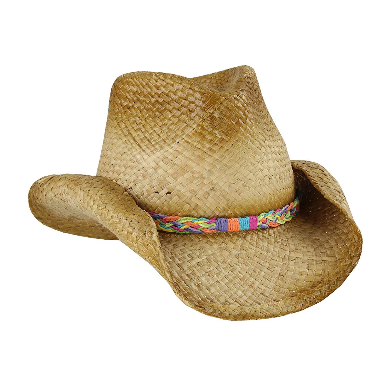 08b67d0167ab3 Get Quotations · Straw Cowboy Sun Hat
