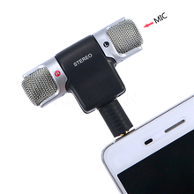 New Style Mini Mic 3.5 milímetros Interface de <span class=keywords><strong>Microfone</strong></span> Estéreo <span class=keywords><strong>Digital</strong></span> Mini Para PC Portátil do Telefone Móvel