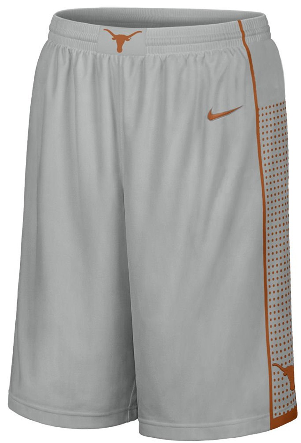 e46f6ef7edf4f Get Quotations · Texas Longhorns Grey 12 Inseam Embroidered Player  Basketball Short By Nike