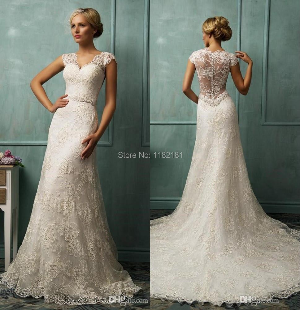 Vintage Wedding Dresses Lace: Vestidos De Renda Novia Sweetheart Ivory Lace Bride