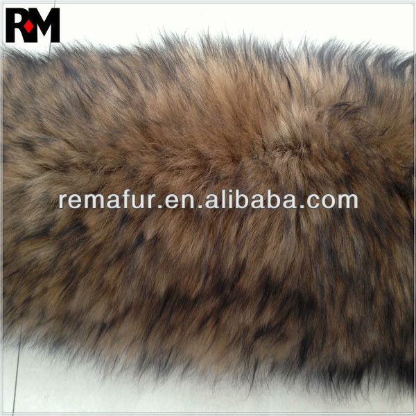 High quality 100% Sheep fur trims/trimming fake raccoon fur trimming