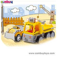 New design plastic building blocks remote control tow truck toy
