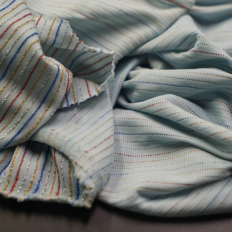 Hot Sale Chiffon Fabric Metallic Brocade Polyester Metallic Sequin Fabric