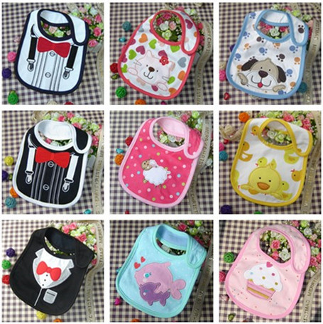 2015 New Cotton Baby Bib Infant Saliva Towels Baby Waterproof Bibs Newborn Wear Cartoon Accessories 3