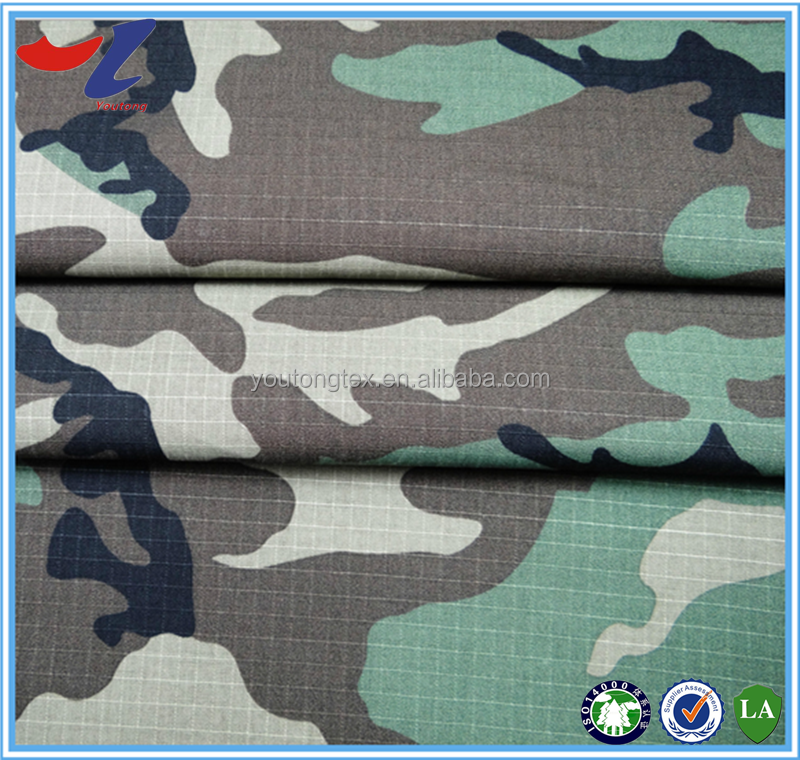 camo printed antistatic water and oil resistant fireproof fabric