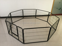 large steel outdoor dog fence