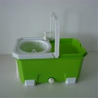 Green color muilti-function plastic mop bucket