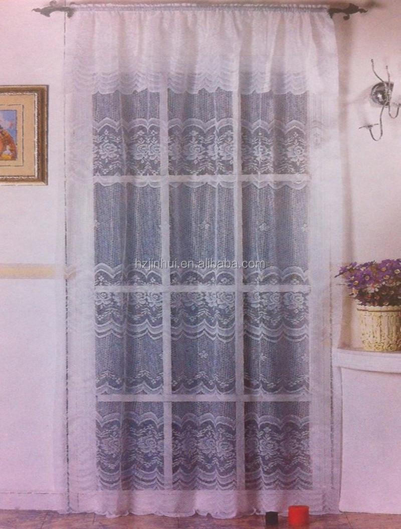 Floral Jacquard Sheer Spitze Vorhänge Fertige Fenster Vorhang für ...