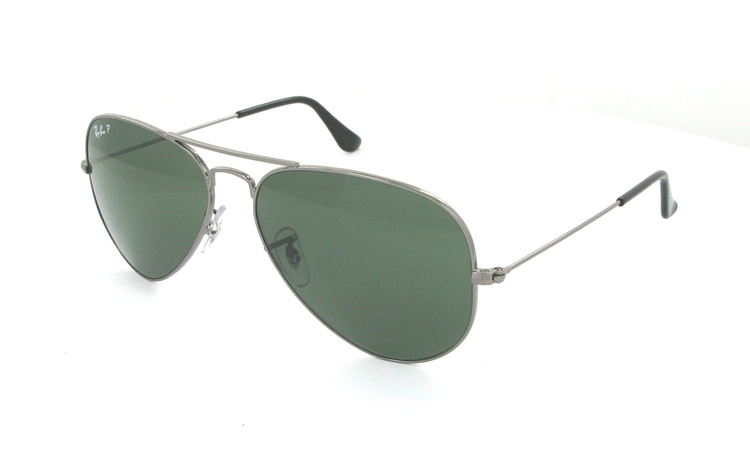 4926bcc2eb Get Quotations · Ray-Ban - RB3025 (Aviator Large Metal) - Gunmetal  Frame-Crystal Green