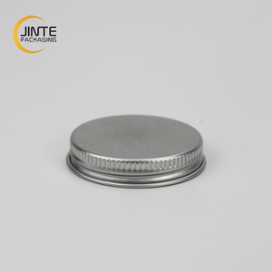 Bottle using metal lid Diameter 45mm silver aluminum screw lid / cap