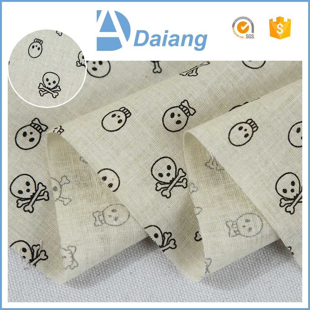 new products for teenagers custom skeleton parttern english cotton printed fabric