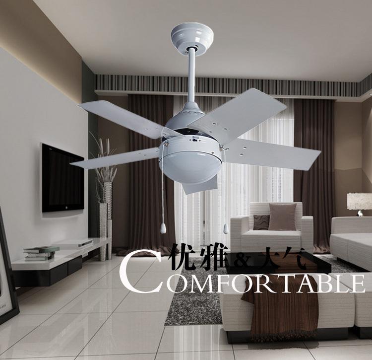 Modern Bedroom Ceiling Lights: 36inch Iron Leaf Fan Ceiling Fan Light Simple Modern