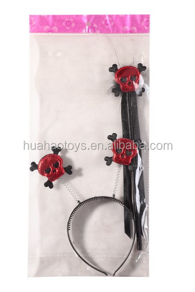 Hot Sale Delicate Red Skull Devil Wand&Headband Wholesale For Halloween