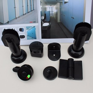Durable Black Nylon Toilet Cubicle Hardware Accessory