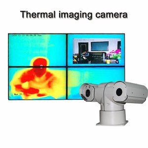 2mp 25mm 360 degree PTZ infrared thermal security camera ir for fireproof