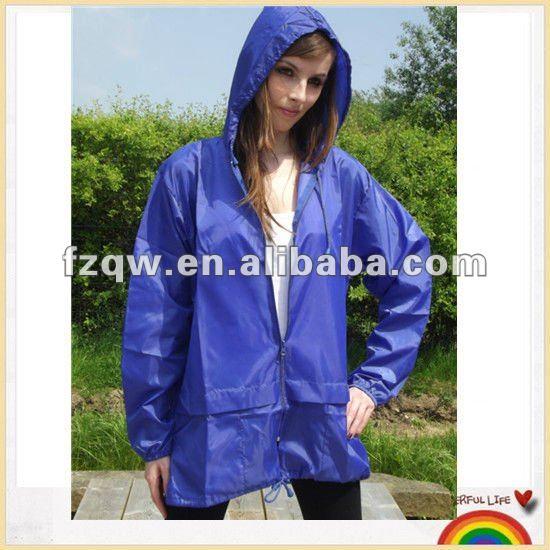 Unisex Waterproof Nylon Rain Jacket - Buy Unisex Nylon Rain Jacket ...