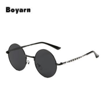 80449bb682 Polaroid Sunglasses Boys Girls Children Round Hippie Glasses Alloy Frame  Pink Mirror Eyewear Kids Baby Accessory