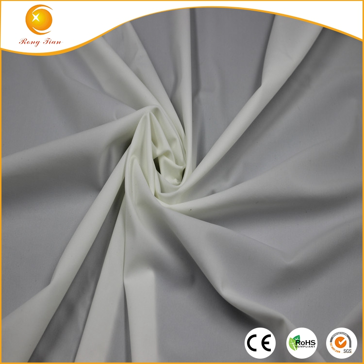 White 68% Nylon 32% Spandex lycra mesh in knitted fabric