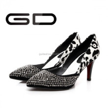 Black lace women high heel pump shoes large size 2013