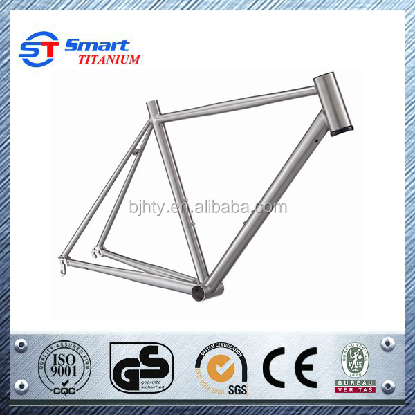 Fcatory Price Titanium 700c Cable Run Internally Road Frame Titanium Road Frame