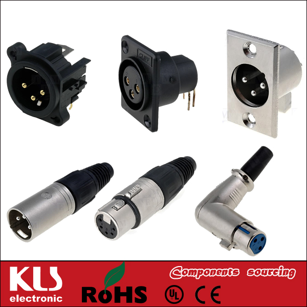 XLR Female Adaptor To Cinch Plug UL CE ROHS KLS1-PTJ-16A
