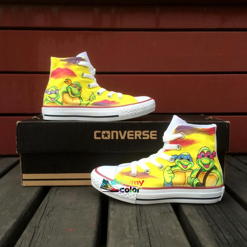 Turtle Converse Shoes