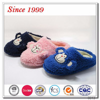 New embroidery design fancy footwear for children indoor slipper