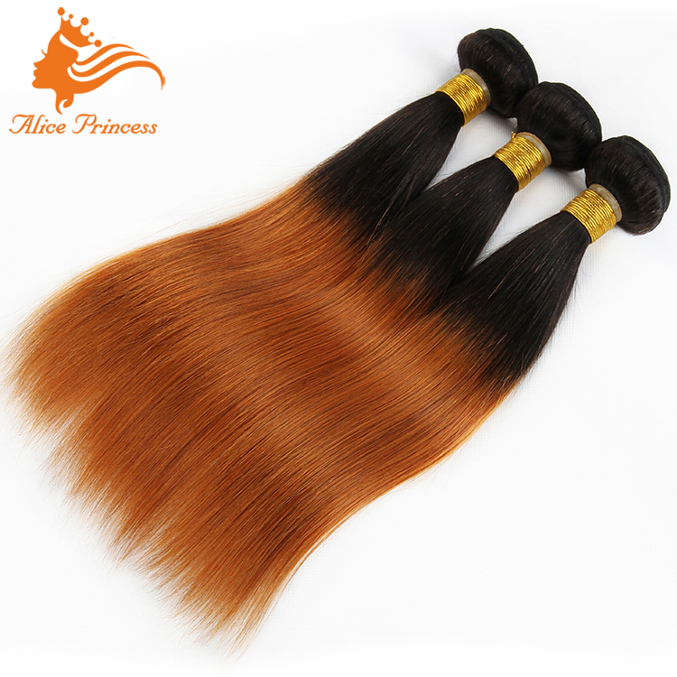 Ombre 1BT30 Two Tone Color 100 Human Hair Weaving Passion Hair Weaving Extension Silky Stragiht Indian Weaving Cheap Price