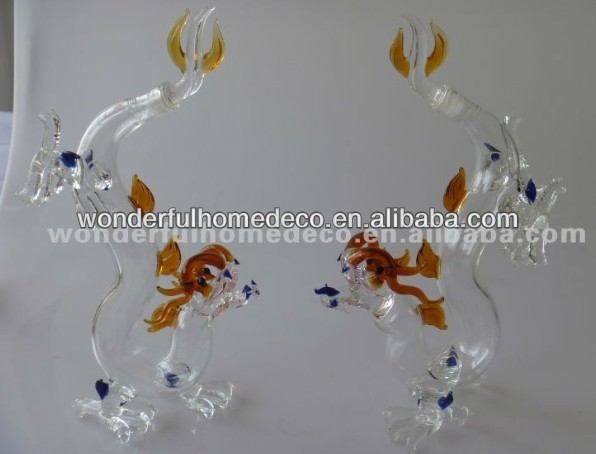 200ml dragon bottle/animal shaped glass bottles/wine bottle in dragon shape