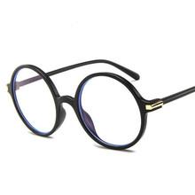 Круглая оправа для очков для женщин и мужчин, Простые художественные декоративные прозрачные очки, прозрачная розовая/серая/черная/синяя о...(Китай)