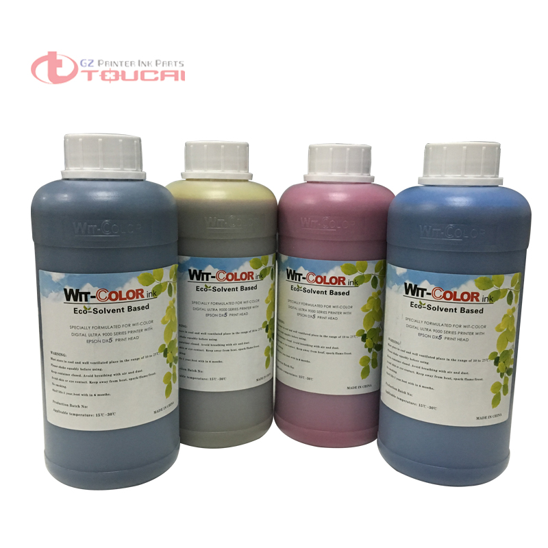 Lower odor wit color ink for eco solvent DX5 DX7 Printhead ultra 9100 9200