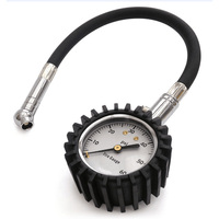 Tire Pressure Gauge with Rubber Hose Air Chuck Measuring Tools Mini Air Pressure Gauge