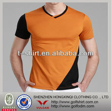 orange and gray combination men muscle t shirt