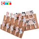 Different shape wholesale wooden types of custom shape butterfly paper hair clips