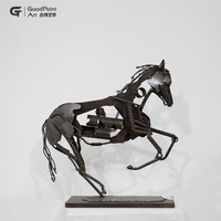 goodpoint art wholesale popeye art 3d iron home decor jade jumping horse sculpture