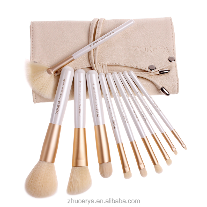 zoreya high quality soft syntetic hair personalized makeup brush set