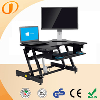 Fashion mechanism Commercial Furniture height adjustable sit stand desk E02