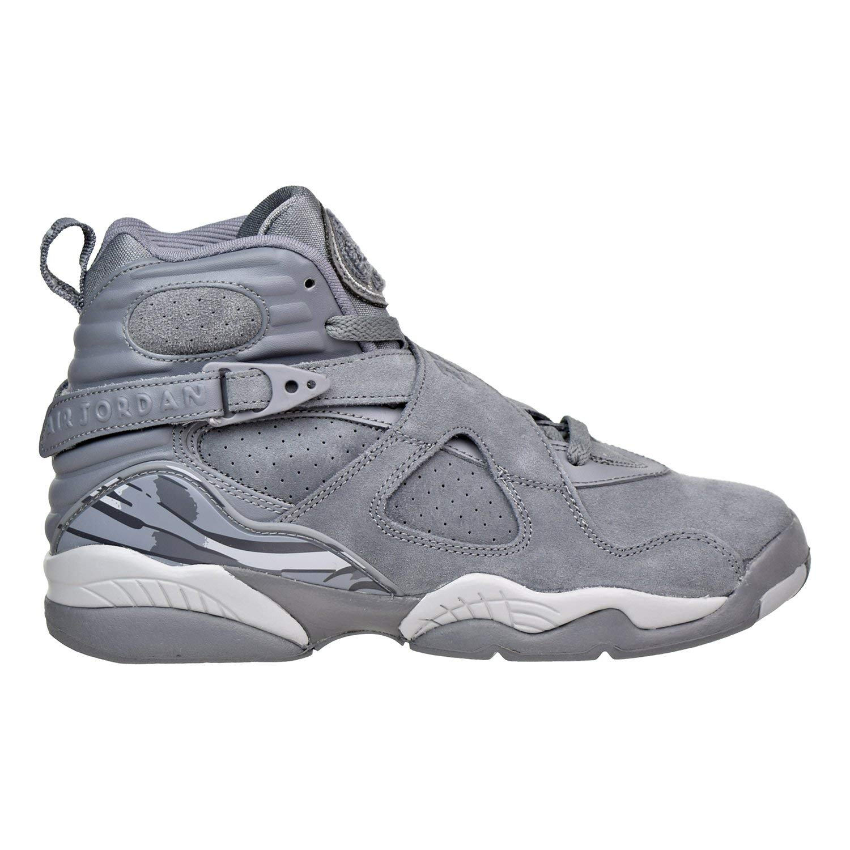 94fc6f08779 Get Quotations · Jordan Air 8 Retro BG Big Kids Shoes Cool Grey Wolf Grey Cool  Grey