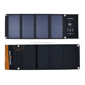 Lowest Prices Fabric Camping Solar Panel Folding 5V 28W Folding Solar Panel For Cellphones
