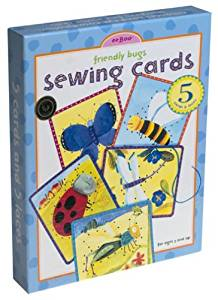 Eeboo Pre-School Lacing /Sewing Cards - Friendly Bugs Design by eeBoo