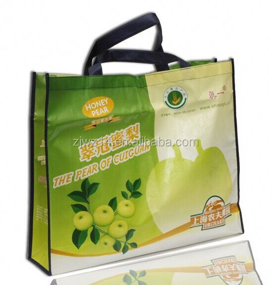 cheap fashion recycled pet printed non woven bag for shopping/ laminated polypropylene tote bag/ laminated grocery bag