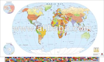 World Map With Flags - Oval - Buy World Map With Flags Product on ...