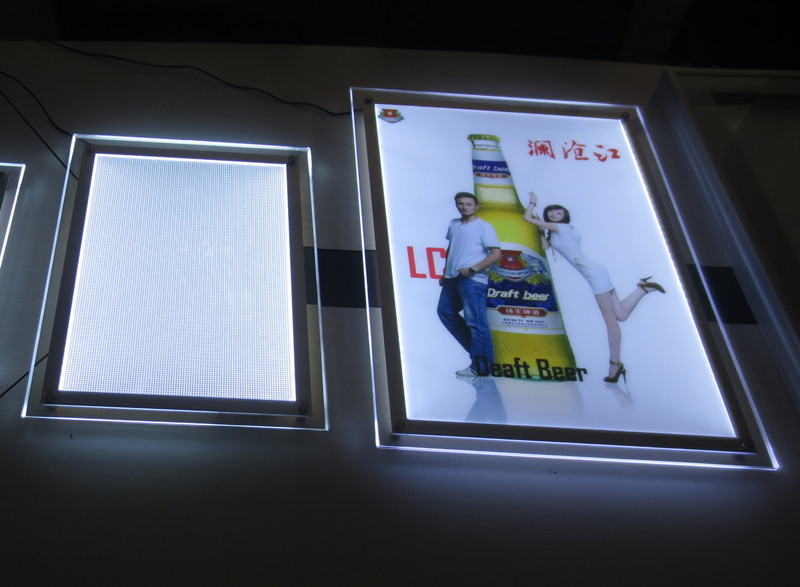 Poster frames with led light