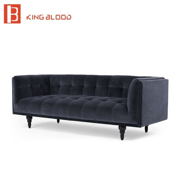Alibaba Navy Blue Chesterfield Replica Design For Drawing Room Sofa ...