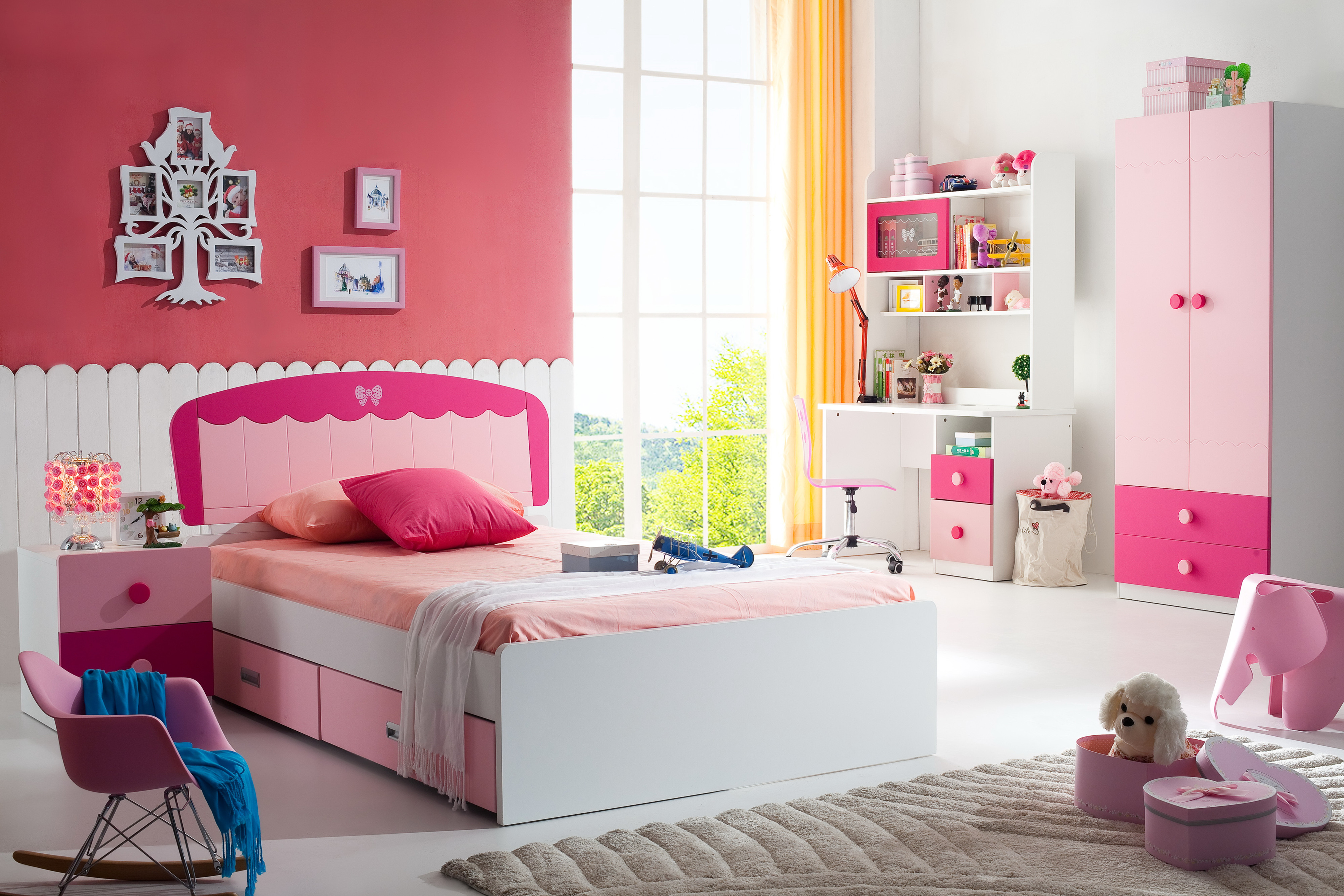 New Design Mdf Cute Pink Color Single Bed Children Bedroom Furniture Girls Bed View Girls Bed Shengmei Product Details From Foshan Shengmei Furniture Co Ltd On Alibaba Com