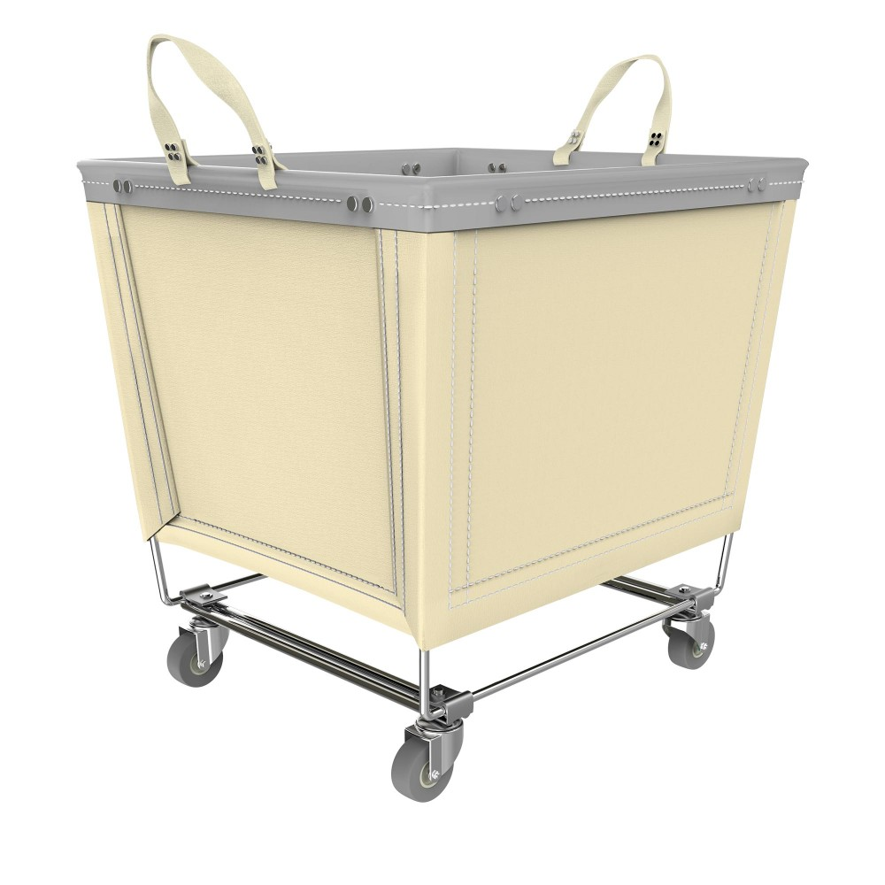 Canvas Trolley Laundry Hamper With Wheels Rolling Laundry