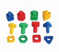 Amazon hot sale STEM Educational Learning Game Jumbo Nuts Bolts Toys Kit for Toddler Kids