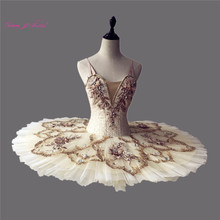 Danyiballet Professionale Adulto Champagne Bianco <span class=keywords><strong>Tutu</strong></span> <span class=keywords><strong>di</strong></span> <span class=keywords><strong>Balletto</strong></span> per le Ragazze